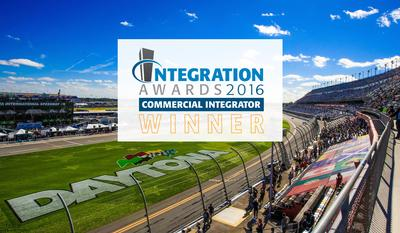 Premier Mounts Wins 2016 Commercial Integration Award for Daytona Speedway Project