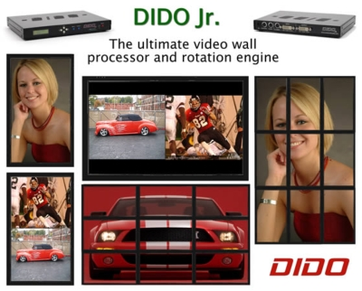 DIDO Jr - The ultimate video wall processor and rotation engine