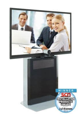 AVTEQ ELT-1500 Slimline AV Stand Named Most Innovative Videoconferencing Furniture Product in 2014 SCN Awards