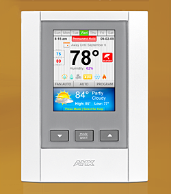 AMX SHOWCASES IMPRESSIVE NEW FEATURES TO VIEWSTAT, INDUSTRY'S FIRST FULL-COLOR, COMMUNICATING THERMOSTAT