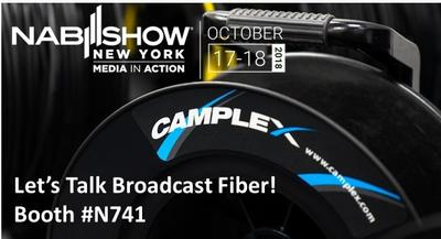 Visit Camplex Booth N741 at NAB NYC Oct 17 & 18