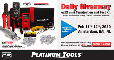 Integrated Systems Europe Daily Giveaway: ezEX-RJ45®? Mini Termination & Test Kit