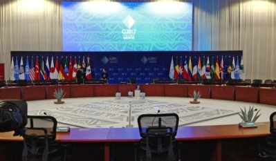 TAIDEN the Conferencing Technology for 31 Leaders to Communicate in 14 Languages during the G20 Summit
