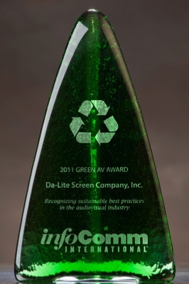 InfoComm Green AV Award Presented to Da-Lite Screen Company