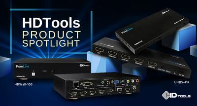 PureLink Expands HDTools Line - New HDMI 2.0 4x1 Switch & HD Multi-Format Video Wall Processor Products Aimed at Home Theater and Commercial Markets