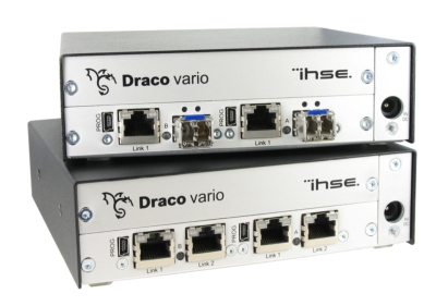 IHSE USA's new 485 Series supports fiber/cat-x media conversion with redundant path options