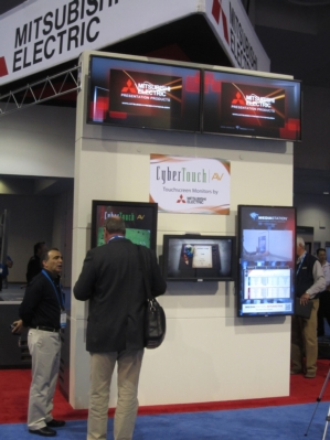 Mitsubishi Electric, IAdea, CyberTouch Show Advanced Functionality at Digital Signage Expo 2012