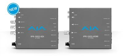 AJA Ships IPR-10G2-HDMI and IPR-10G2-SDI SMPTE ST 2110 Mini-Converters