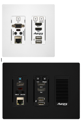AURORA MULTIMEDIA'S SDVoE Transceiver Wall Plate Series