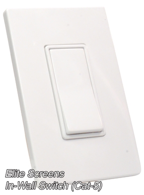 ELITE SCREENS PRESENTS ATTRACTIVE NEW IN-WALL CONTROL SWITCHES FOR ITS ELECTRIC SCREENS
