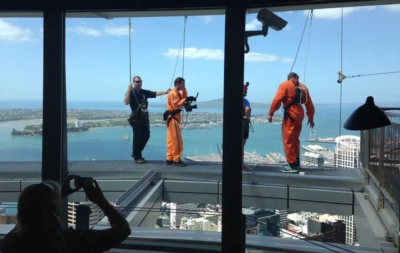 LECTROSONICS WIRELESS TECHNOLOGY CAPTURES THE THRILL OF A BASE JUMP FROM AUCKLAND'S SKY TOWER
