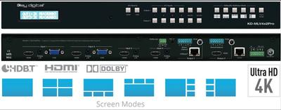 Key Digital® Updates Popular Multiview Presentation Switcher to Include HDBaseT, HDCP2.2, and Surround Audio