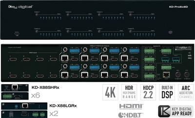 Key Digital's HDMI HDBaseT Video Matrix with Audio Return Channel Provides Widely Sought Solution to AV integrators
