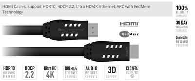 Key Digital's New HDMI Cables with 18 Gbps of Bandwidth Integrate UHD/4K with HDR up to 75'