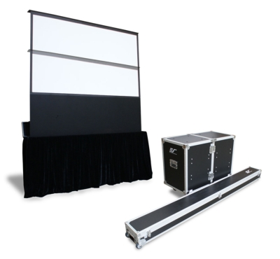 New Electric Free-Standing Projection Screen for the Rental & Staging Market
