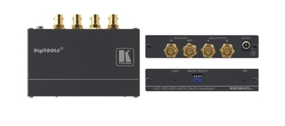Kramer Introduces the 6808HDxl 3G HD-SDI AES Audio De-embedder