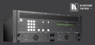 Kramer Debuts an 8K Ready Multi Format Digital Matrix Switcher with Interchangeable I/Os at ISE
