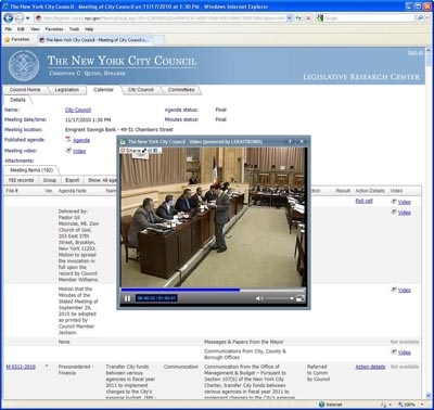 The New York City Council Streams Meetings Live with LEIGHTRONIX