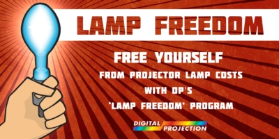 Free yourself from projector lamp costs with DP's 'Lamp Freedom' program
