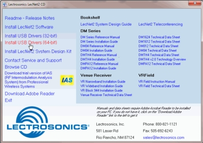 LECTROSONICS RELEASES 64-BIT COMPATIBLE FIRMWARE FOR DM SERIES PROCESSORS AND VENUE RECEIVERS