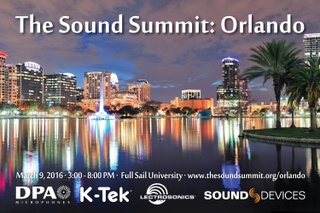 DPA Microphones, Lectrosonics, Sound Devices, and K-Tek to Host The Sound Summit Orlando