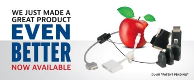We just improved our HDMI Adapter Ring by adding Apple®!