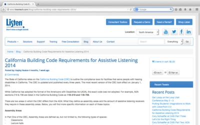 Listen Technologies Provides Comprehensive Resources on Updates to California Building Code Requirements