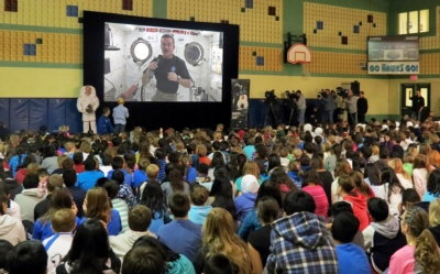 Canadian schools enjoy a live-from-space chat with the International Space Station