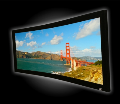 Next Generation Acoustically Transparent Curved-Frame Screen Takes Home Theater Enthusiasts into the Next Level of Immersion