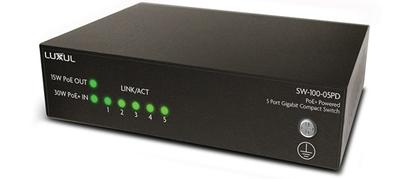 Luxul Delivers Installation Flexibility With New Five-Port PoE+ Powered Gigabit Switch