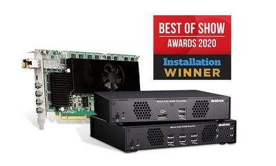 Matrox Extio 3 IP KVM Extension and Switching Solution Wins Distinguished ISE 2020 Best of Show Award