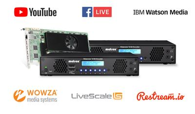 Matrox Maevex 6100 Series Encoders Expand Cloud-Service Compatibility for Live 4K Webcasting