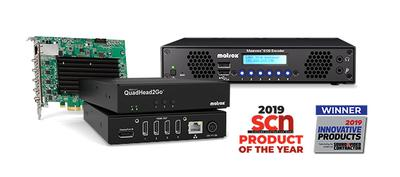 Matrox Wins Multiple 2019 Product of the Year Awards for Pro AV Excellence