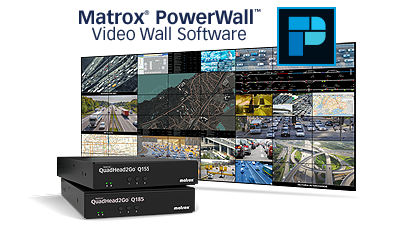 Matrox Launches Global View with PowerWall Video Wall Software
