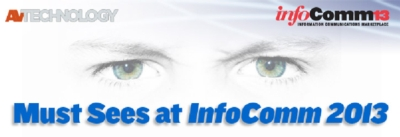 The Beamforming Microphone Array is listed as a MUST SEE at InfoComm 2013