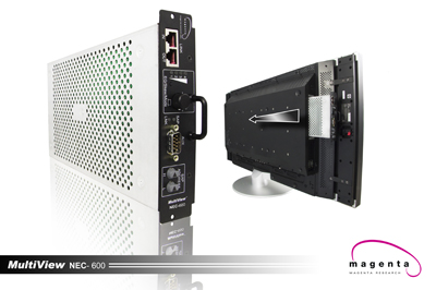Magenta Research and NEC Expand Partnership with Introduction of MultiView™ NEC Display Card-Slot UTP Receiver at the 2009 Digital Signage Expo