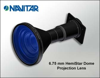 Navitar Introduces Their New 6.75 mm HemiStar Lens Designed Specifically for 180 Degree Dome Presentation
