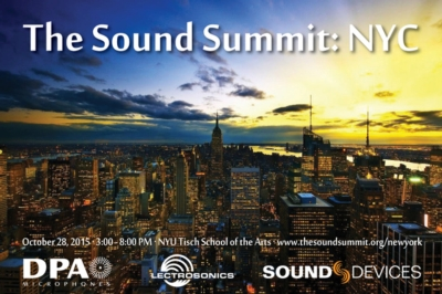 DPA Microphones, Lectrosonics and Sound Devices to  Host Sound Summit Event in New York