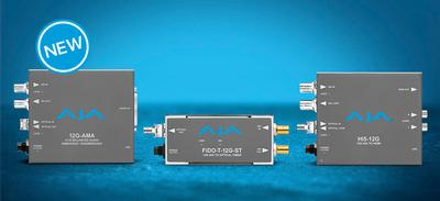 AJA Introduces New 12G-SDI Mini-Converters