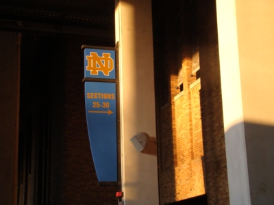 Community Greets Fighting Irish Fans at University of Notre Dame Stadium