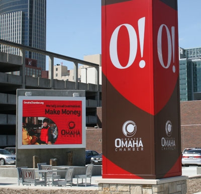 Omaha Chamber of Commerce Adds Visual Pizzazz to Historic Downtown district with LED Outdoor Signage Driven by Keywest Technology System