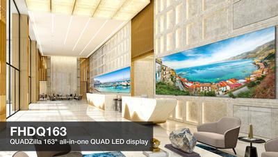"Optoma Expands Award-Winning QUAD Series with Groundbreaking 163"" All-In-One QUAD Direct View LED Display"
