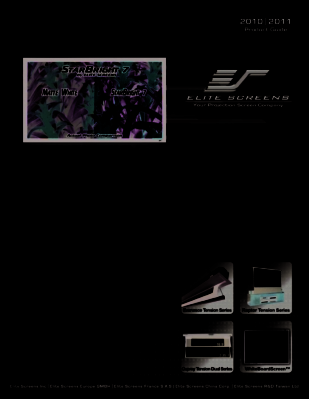 Elite Screens Launches its 2010-2011 Product Guide