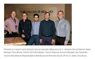 Williams Sound appoints Vision2 Marketing as new rep