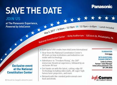 Join Us at The Panasonic Experience, Powered by InfoComm
