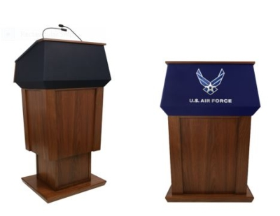 AmpliVox Patriot Lectern Delivers Elegant Style with Height Adjustability