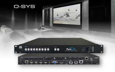 PureLink™ Now Shipping PS-820S 8×2 Seamless Presentation Switcher with Q-SYS™ Control Plugin