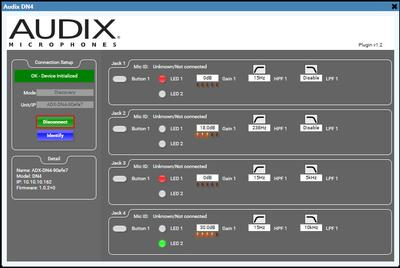 Q-SYS control plugin released for  Audix Dante | AES67 Integrated Microphone System