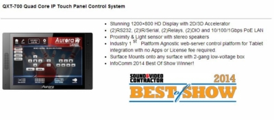 Aurora Breaks Records at InfoComm 2014 – HDBaseT Wall Plates – QX Control Line – Streaming Video
