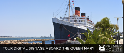 DSE Huddle Networking Event | Premier Mounts Invites Dealers to Tour Digital Signage Aboard the Queen Mary
